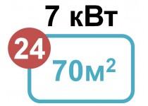 7 кВт - 70 м2